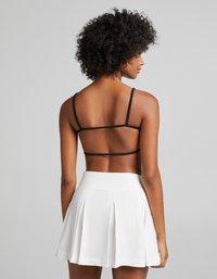 Bershka - Plisovaná sukně - white - 2
