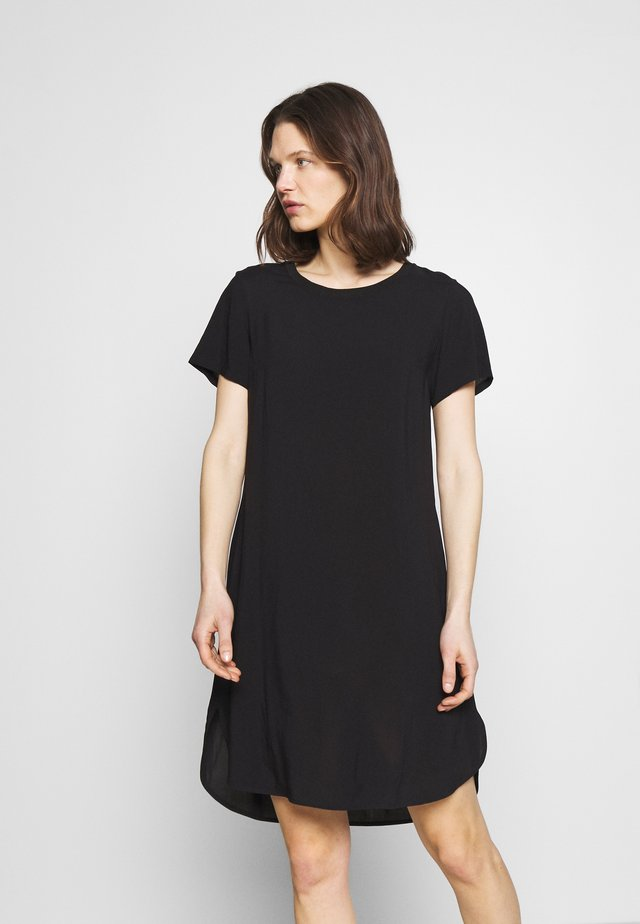 ½ SLEEVE DRESS - Sukienka z dżerseju - black