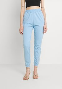 Missguided - BASIC JOGGERS 2 PACK - Tracksuit bottoms - blue bell/snow white - 1