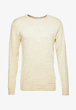 ROUND NECK - Jumper - beige melange