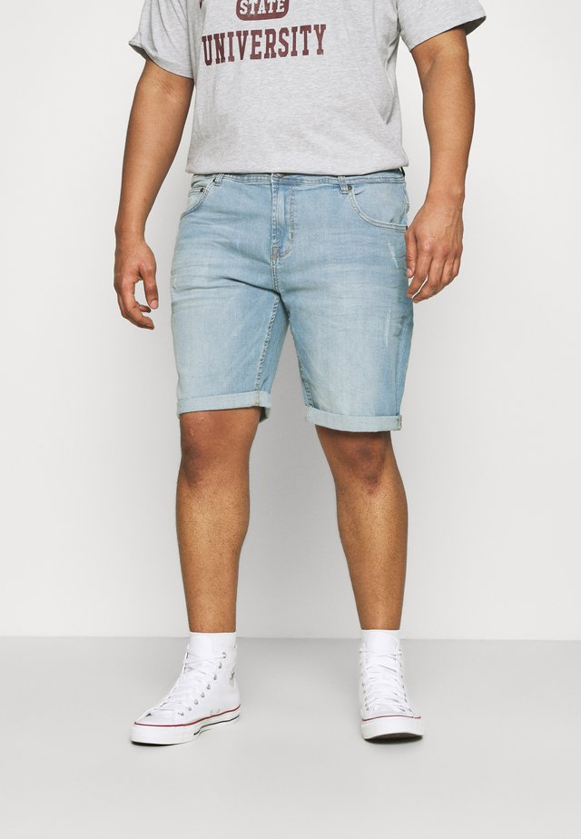 SKYBIG - Denim shorts - sky blue