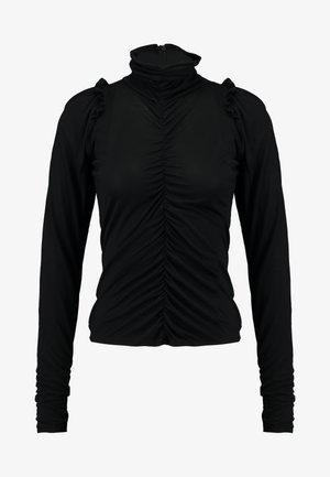 GREDA - Langærmede T-shirts - black