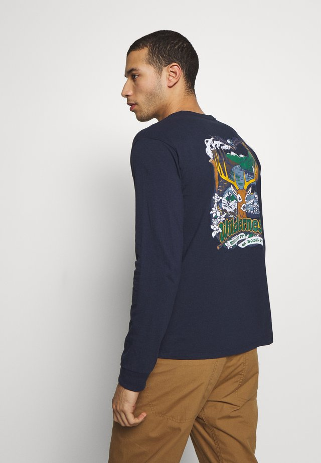 YES TO WILDERNESS RESPONSIBILI TEE - T-shirt à manches longues - new navy