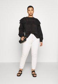 Cotton On Curve - SMOCK BLOUSE - Blouse - black - 1