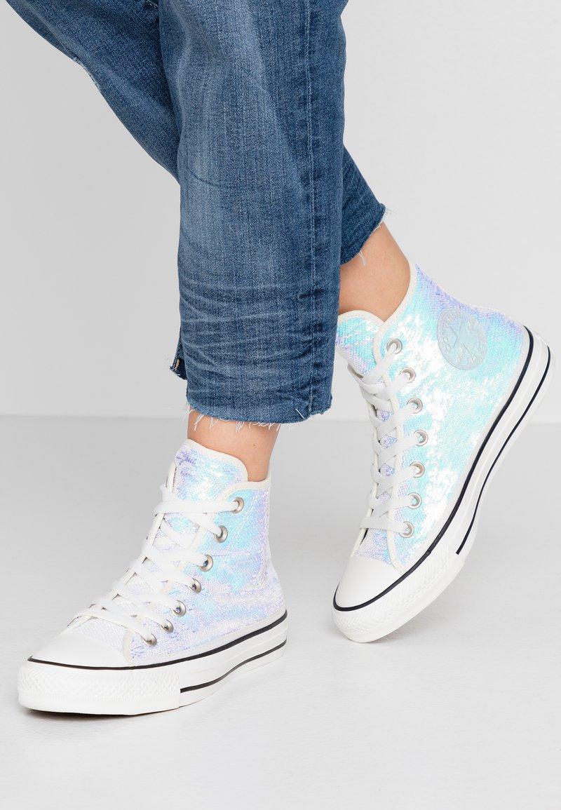 Converse - CHUCK TAYLOR ALL STAR - Sneaker high - silver/vintage white/black
