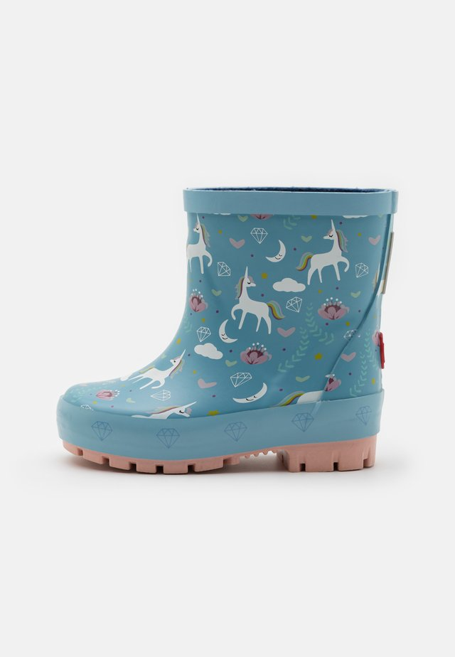 UNICORN - Gummistøvler - blue/multicolor