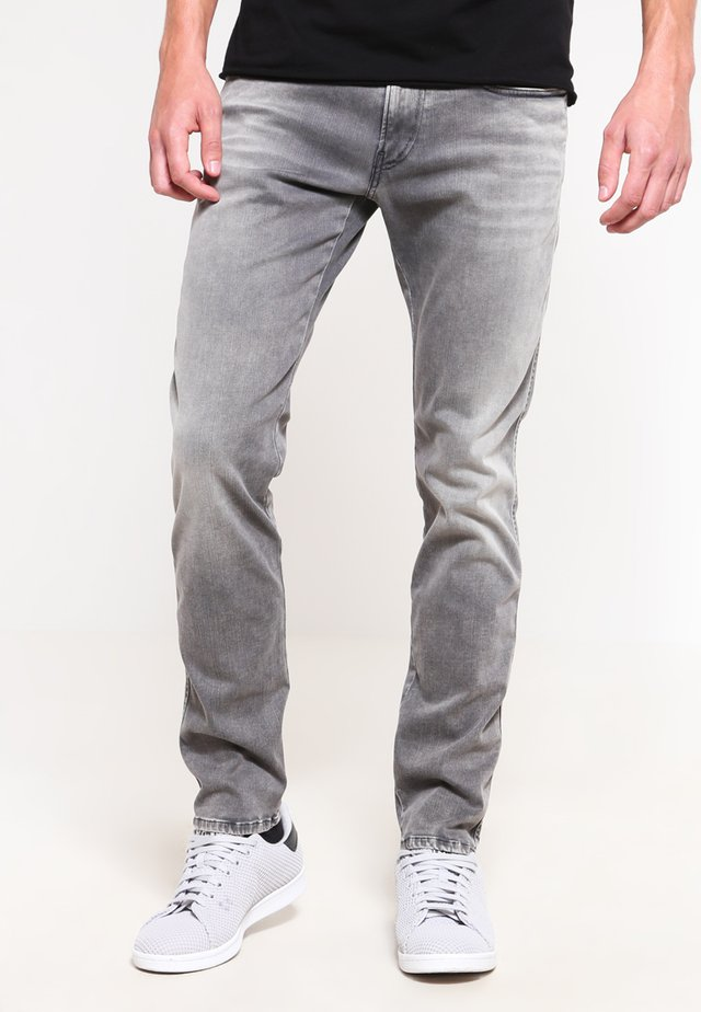 HYPERFLEX ANBASS - Slim fit jeans - grey denim