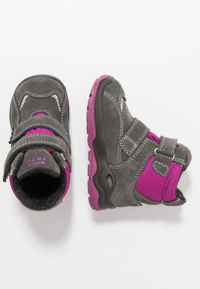Zimní obuv - grig/magenta