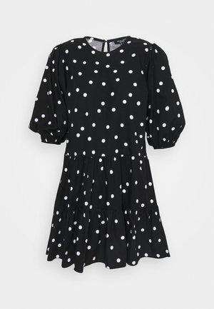 PRINT BLOUSON MINI - Denní šaty - black
