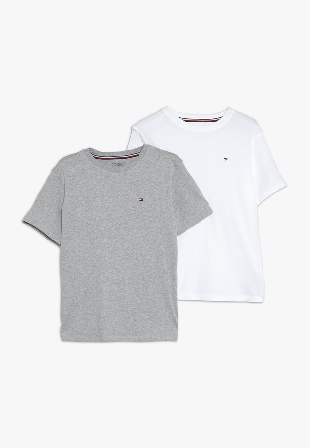 2 PACK  - T-shirt basic - mottled light grey