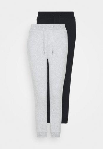 2 PACK - Tracksuit bottoms - black/grey