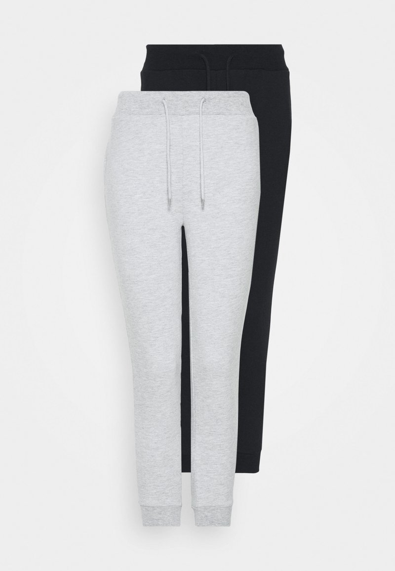 Even&Odd Petite - 2 PACK SLIM FIT JOGGERS - Træningsbukser - black/grey