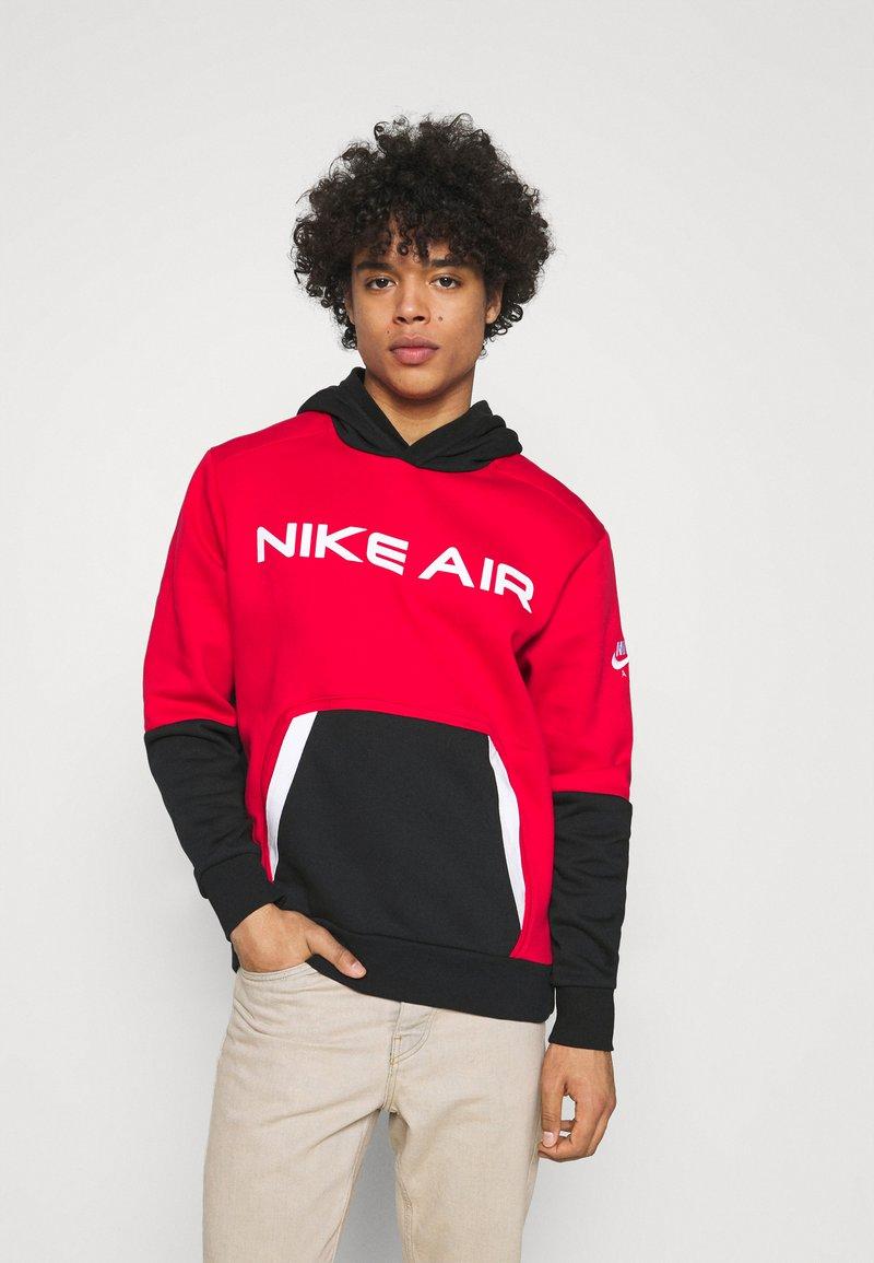 Nike Sportswear - AIR HOODIE - Hoodie - university red/black/white