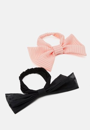 BOW HEADBAND 2 PACK - Hair styling accessory - pink/black