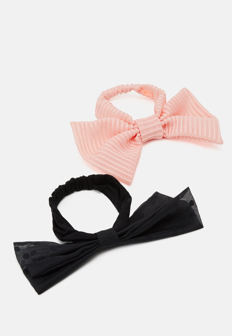 WAUW CAPOW by Bangbang Copenhagen - BOW HEADBAND 2 PACK - Akcesoria do stylizacji włosów - pink/black