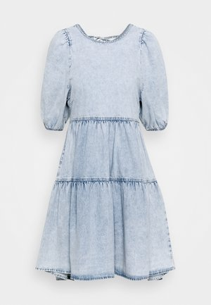 BABYDOLL DRESS - Denim dress - light blue