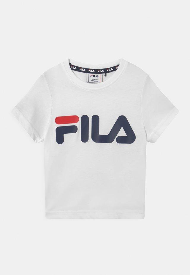 LEA LOGO TEE UNISEX - Print T-shirt - bright white