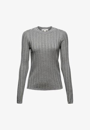 ROUND NECK FITTED - Jumper - medium grey