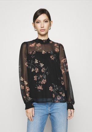 VMLALLIE SMOCK - Blouse - black/lallie