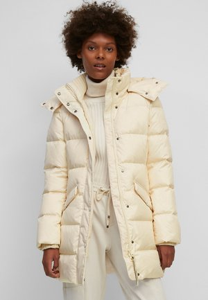 MIDDLE LENGTH - Down coat - chalky sand