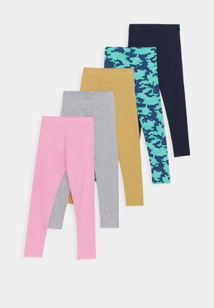 5 PACK - Leggings - green/turquoise/light pink/grey/dark blue