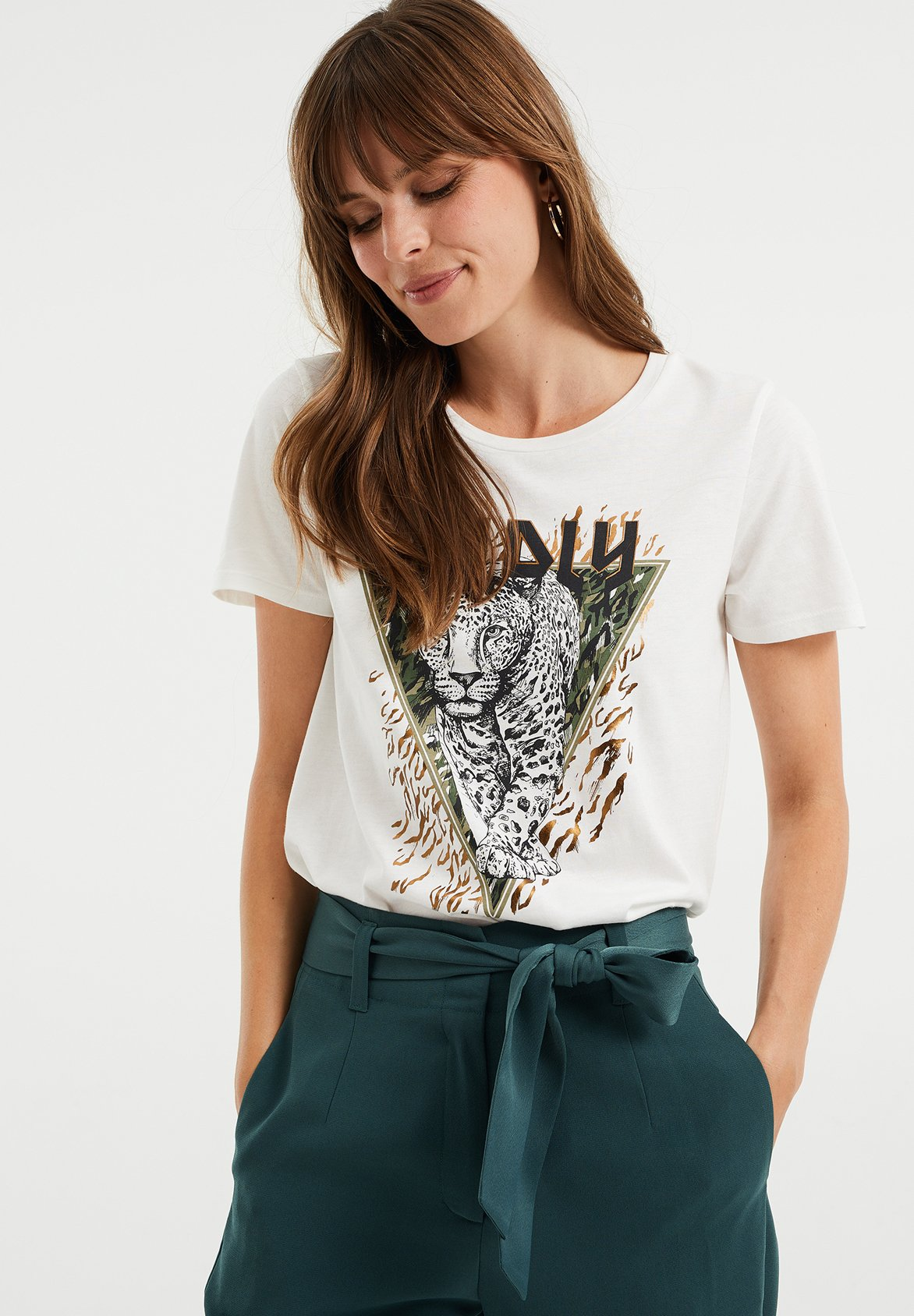 Damen MET OPDRUK - T-Shirt print