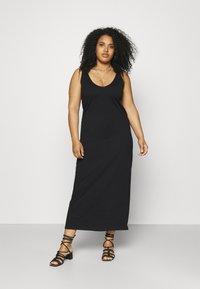 ONLY Carmakoma - CARAPRIL LIFE V-NECK DRESS - Jersey dress - black - 0