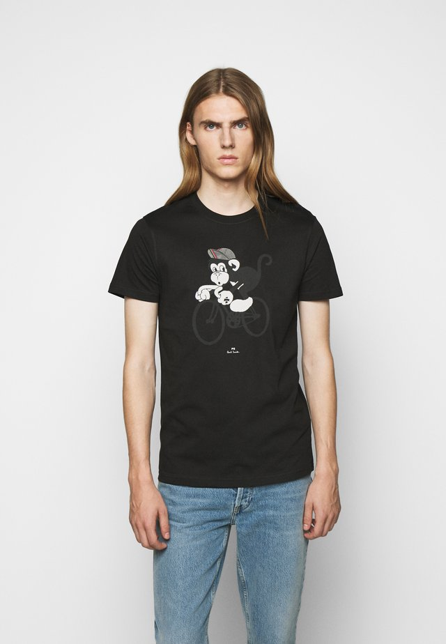 BIKE MONKEY - Printtipaita - black