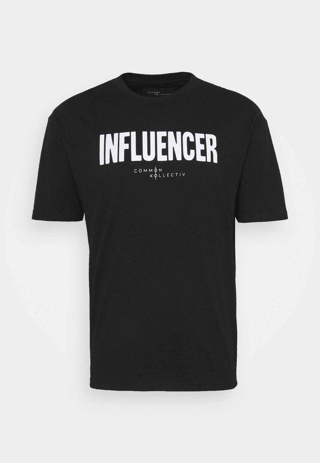 INFLUENCER UNISEX - T-shirt imprimé - black