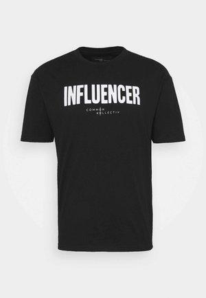 INFLUENCER UNISEX - T-shirt print - black