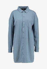 Missguided - DRESS PLAIN - Shirt dress - blue - 4