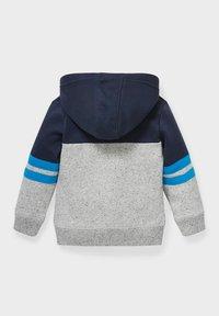 C&A - Zip-up sweatshirt - dark blue / gray - 1