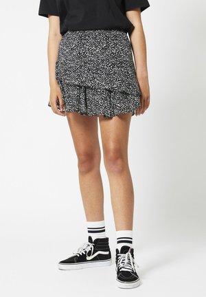 A-line skirt - black/white