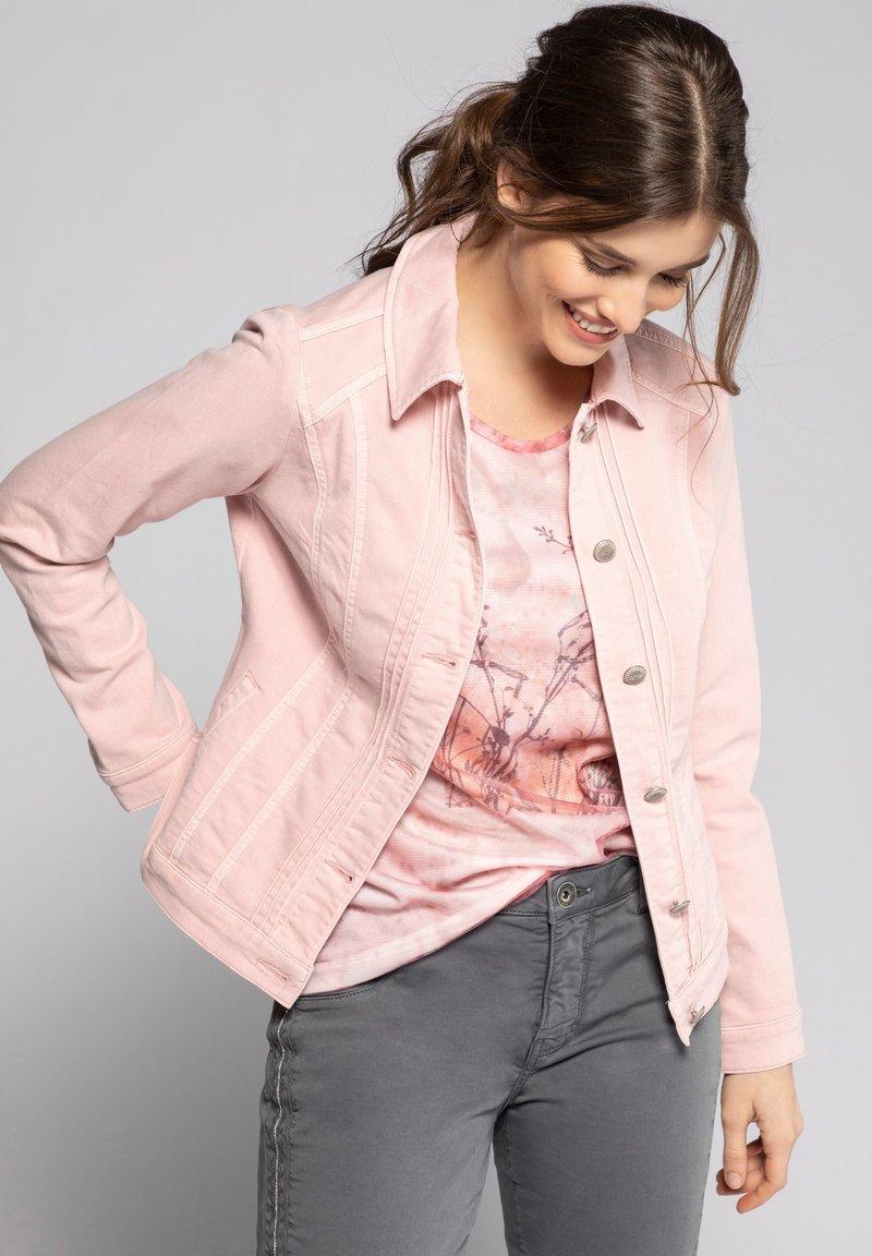 GINA LAURA - Denim jacket - puderrosa