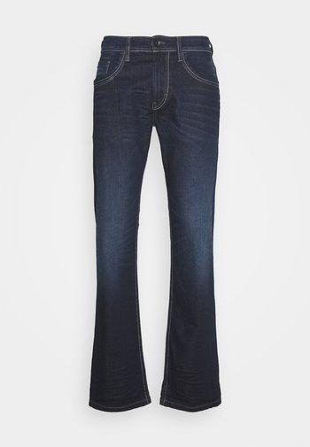 MARVIN - Jeans straight leg - dark stone/wash denim