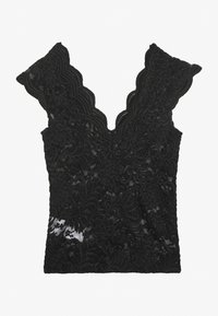 ONLY - ONLALBA VNECK - Bluse - black - 1