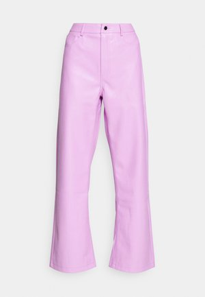 HIGH WAIST PANTS - Trousers - lilac