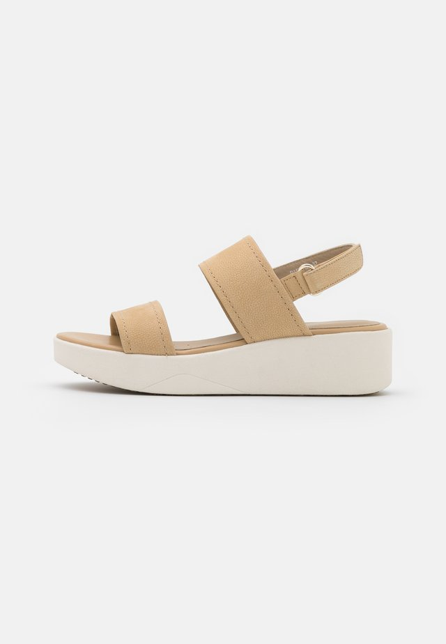LAUDARA  - Sandały na platformie - sand