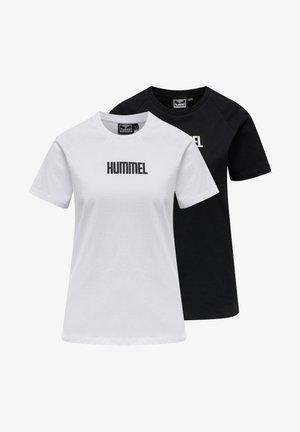 2-PACK - Print T-shirt - black/white