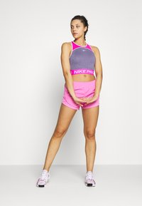 Nike Performance - DRY TANK CROP SPACE DYE - Sportshirt - cerulean/fire pink/white - 1