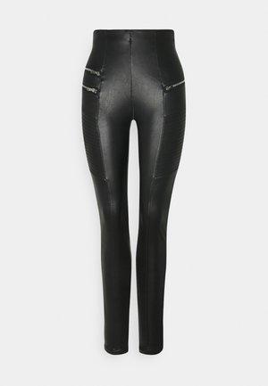BIKER - Pantalon classique - black