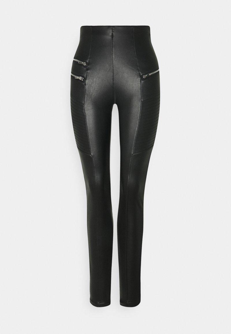 New Look Tall - BIKER - Kalhoty - black