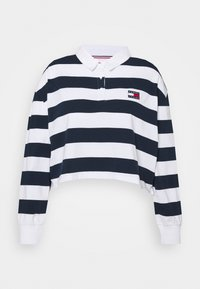 Tommy Jeans Curve - STRIPED RUGBY - Polo shirt - twilight navy - 4