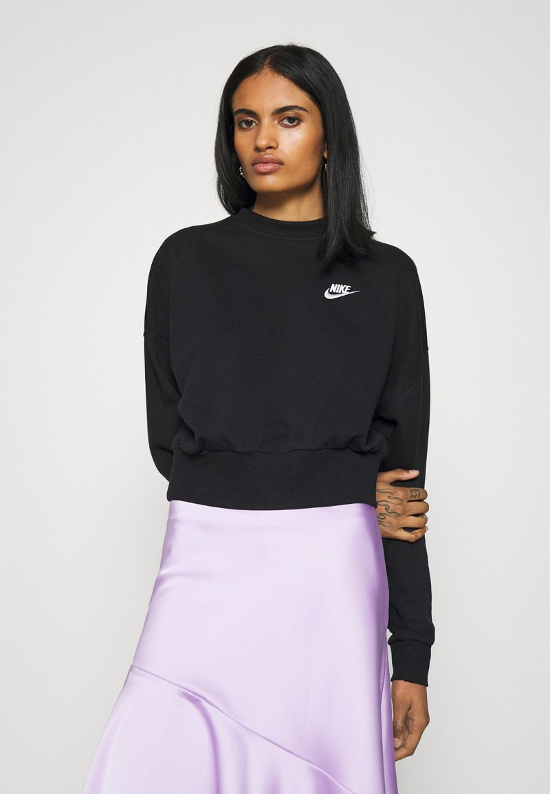 Nike Sportswear - MOCK - Sweatshirt - black/white