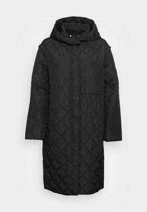 QUILTED COATVEST - Classic coat - black