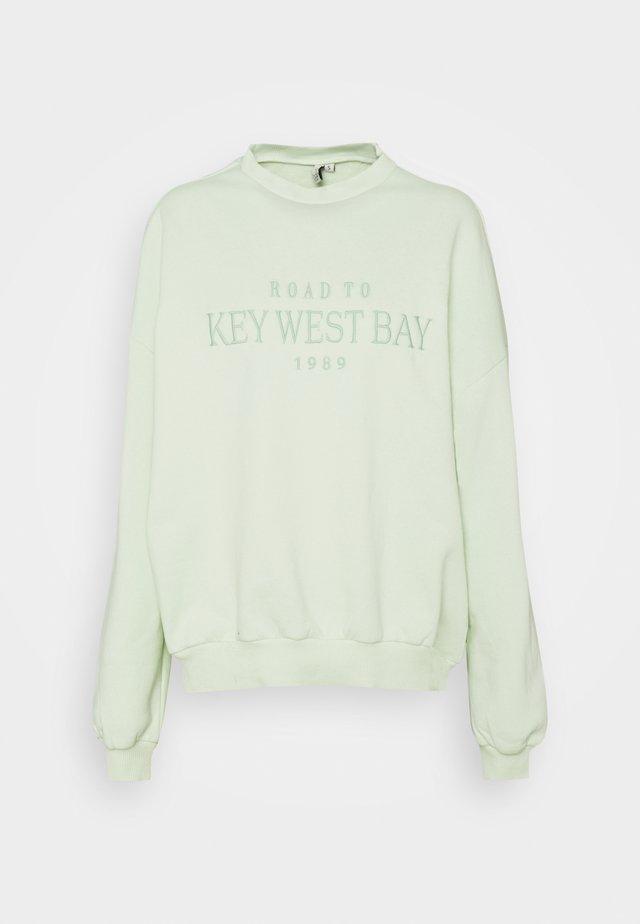 OVERSIZE EXPRESSION - Sweatshirt - mint