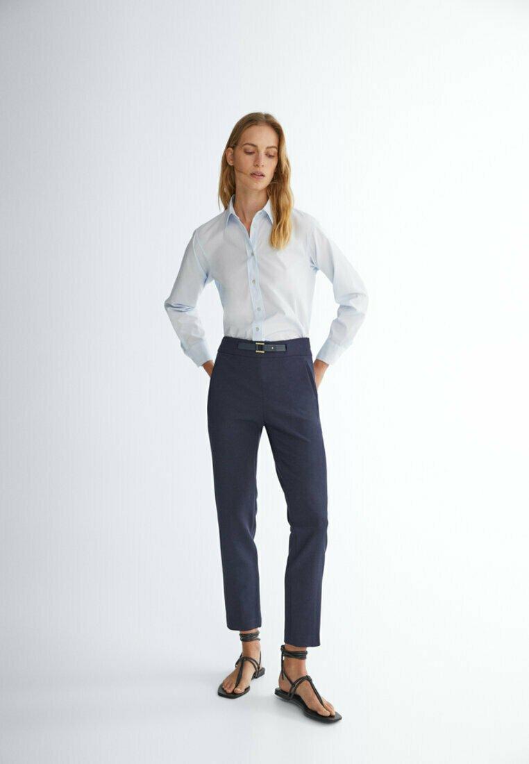Massimo Dutti - FLANELL  - Pantalon classique - dark blue