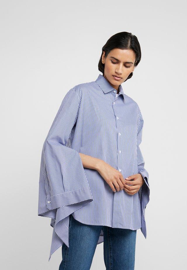 CAMICIA DETTAGLIO FIOCCHI - Button-down blouse - blue