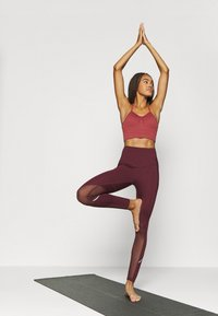 South Beach - INSERT HIGHWAIST LEGGING - Medias - burgundy - 1