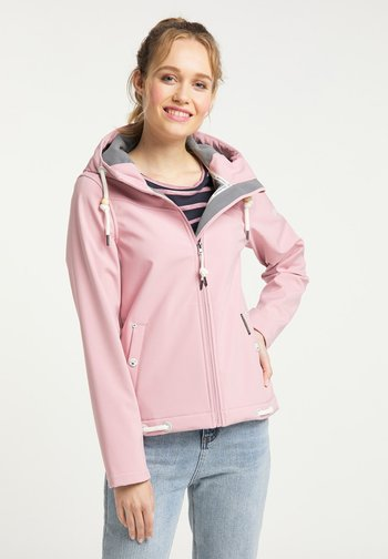 Soft shell jacket - pfirsichrosa